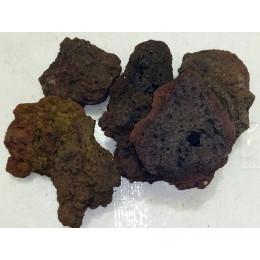 Лава вулканическая 10-15см для аквариума, 1 кг.