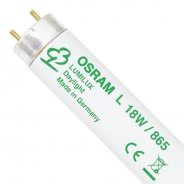 Лампа Т8 Osram L18W/865 PLUS ECO G13 d26x590 xолодный белый 6500K