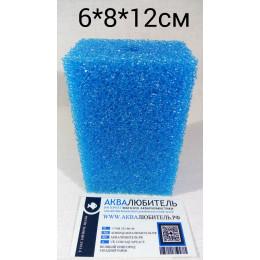 Губка среднепористая синяя №5с 6*8*12см